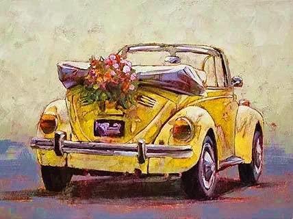 Pintura colorida del coche pinturas al óleo acrílicas por números pintado a mano DIY digital lienzo pintado regalo decoración de la pared del hogar A9 50x70cm