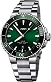Oris Aquis Date Green Dial 43.5mm Steel Men's Watch - Reference: 01 733 7730 4157-07 8 24 05PEB