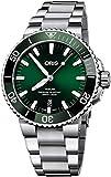Oris Aquis Date Reloj de hombre de acero con esfera verde de 43,5 mm – Referencia: 01 733 7730 4157-07 8 24 05PEB