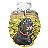 Ouniaodao Uomo Pure Black Labrador Felpe Popolare - Pet Dog Allenamento Giacca Bianco s