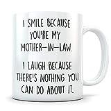 Taza de suegra, regalo de suegra, regalo de nuera, regalo de madre del novio, divertido regalo de la suegra, regalo de ley