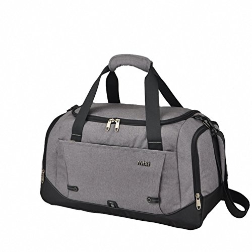 "Mixi bagaglio a mano palestra del Duffel Borsa Weekender Bag durante la notte per Sport Viaggi (Grigio, 20"")"