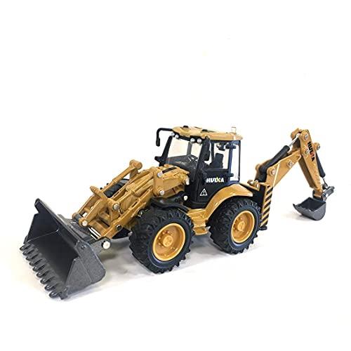 Retroexcavadora juguete, 1:50 carretilla elevadora de dos vías Retroexcavador de retroexcavadoras de retroexcavadora de juguetes de juguete de juguete de ingeniería Modelo estático de vehículos para n