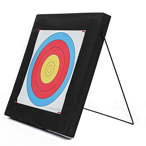 ZJY Bogenschießscheibe - mit selbstheilendem Ständer aus Eva-Schaum Faltbare Halterung - Geeignet für Jagdschießtraining für Anfänger und leichte Bögen - 60x60x5cm