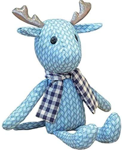 Peluche de juguete red rojo caliente del dril de mezclilla bufanda de ciervo de la personalidad de moda de ciervo de peluche de juguete de los niños s muñeca