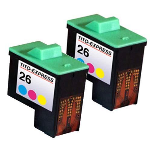 PlatinumSerie - Cartuchos de Tinta XXL compatibles con Lexmark 16 y 26 (21 ml, XXL), Color Negro y Color (05) 2 Patronen Color