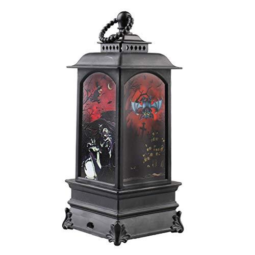 PHILSP Windlicht Halloween Dekoration Vintage Hexe Kürbis LED Windlicht Hängelampe Laterne Hexe