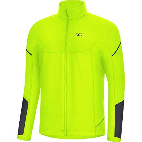 GORE WEAR M Men's Thermo Long Sleeve Shirt, M, neon yellow/black