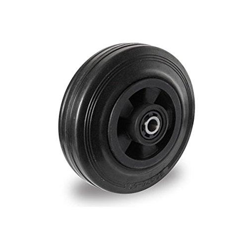 Einbaurad 160 mm Vollgummi schwarz
