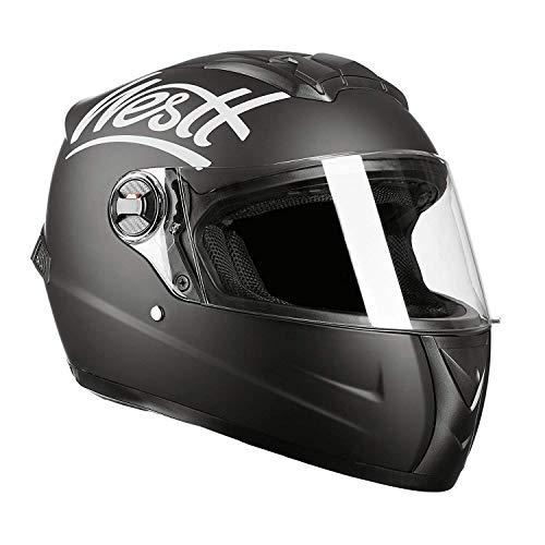 Westt Storm Casco de Moto Integral Negro Mate - Motocicleta Scooter Li