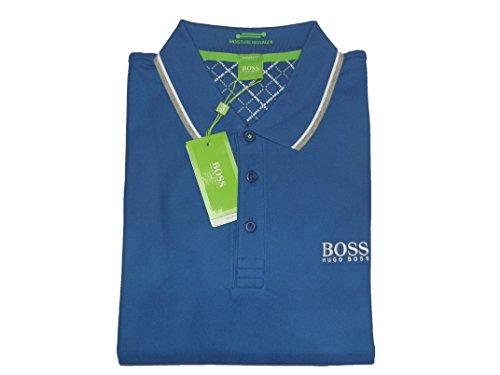 Hugo Boss 10103386 Polo de golf pour homme Bleu Taille XL
