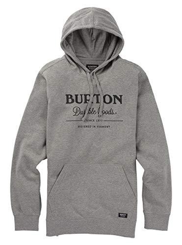 Burton Herren Durable Goods Kapuzenpullover, Gray Heather, XS