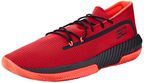 Under Armour Sc 3zer0 Iii Zapatos de Baloncesto Hombre, Rojo (Red/Jet Gray/Black (601) 601), 43 EU