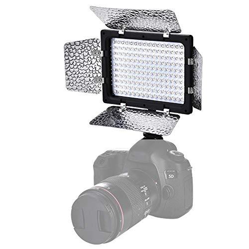 Fotografía Luz de relleno, adopta la tecnología de administración LED, 6000K de temperatura de color, zapata estándar y 1/4