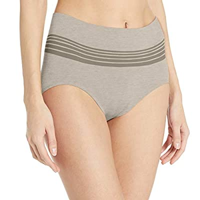 Warner's Women's No Pinching No Problems Seamless Brief Panty, Grey Heather, L