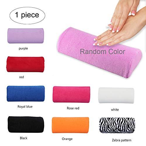 Xiton 1 UNID Cojin Manicura Expositor Uñas Suave Reposamanos Almohada Lavable Nail Art Almohada Cojín Desmontable Descanso de Brazo Cuidado de Manicura Herramienta de Salón (Color Al Azar)