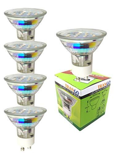 Trango 5er Pack LED GU10 Leuchtmittel 3000K warmweiss TGGU1015 - zum Ersetzen GU10 Halogen Leuchtmittel