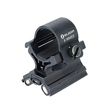 Olight X-WM03 Support tactique magnétique de chasse en X pour lampe torche de 23 à 26 mm de diamètre Warrior X, M2R, Javelot Pro, M2T, M20SX, etc.