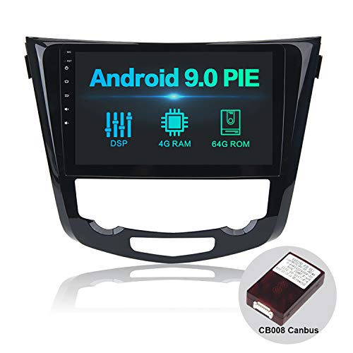 Dasaita 10.2' Android 9.0 Autoradio 1 Din Con Schermo Con DSP 4G RAM 64G ROM per Nissan X-Trail...