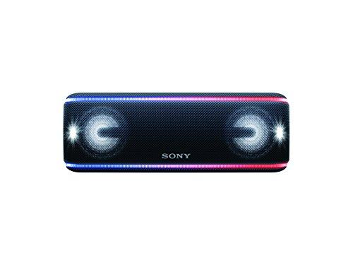 Sony SRS-XB41/BC LA7 Bocina Bluetooth Inalámbrica Portátil con Luces, Color Negro