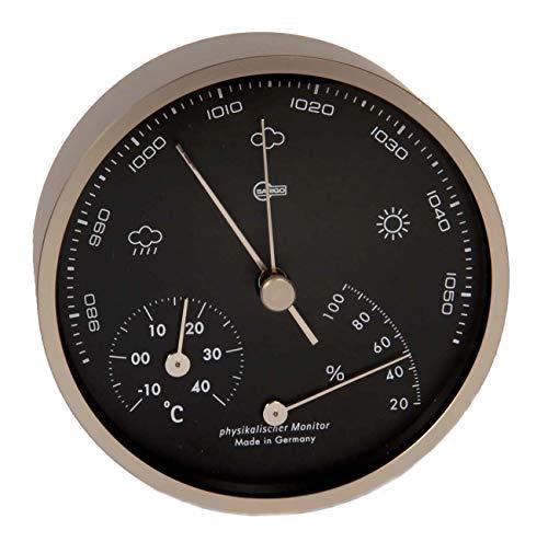 BARIGO Pentable Series Barometer / Thermometer / Hygrometer - Wall Plated Nickel Housing - 4\
