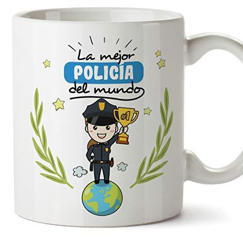 MUGFFINS Taza Regalo Mujer Policía - La Mejor Mujer Policía del Mundo - Nacional/Local/Guardia Civil/Ertzaintza/Mossa d'esquadra