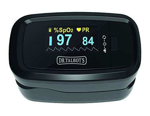 Dr.Talbots - Pulsoximeter Oximeter Pulse Fingerpulsoximeter, Finger Pulse Oximeter SpO2 Sauerstoffsättigung Messgerät Sauerstoffmessgerät für Sauerstoff, Oxymeter Pulsmesser für Kinder, Erwachsene