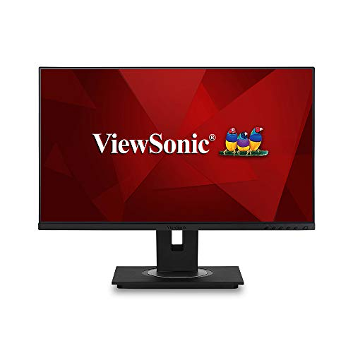 Viewsonic VG2455 60,5 cm (24 Zoll) Business Monitor (Full-HD, IPS-Panel, HDMI, DP, USB 3.0 Hub, USB C, Höhenverstellbar, Lautsprecher, Eye-Care) Schwarz