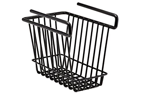 SnapSafe Hanging Shelf Basket Medium 76010 - Coated Wire Basket Maximizes Storage for Documents Gun Accessories Ammo - Easy Access Under Shelf Storage for Gun Safes - Holds Up to 40 Pounds