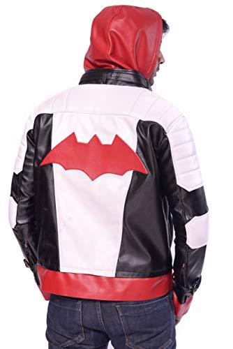 DeColure Chaqueta unisex de piel sintética para cosplay de Superhero, para Halloween