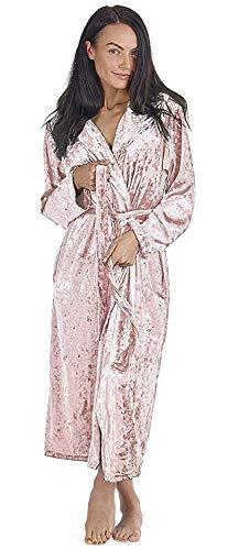 CityComfort Bademantel Damen Morgenmantel Saunamantel fur Frau mit Kapuze und Tasche (48/50, rosa)