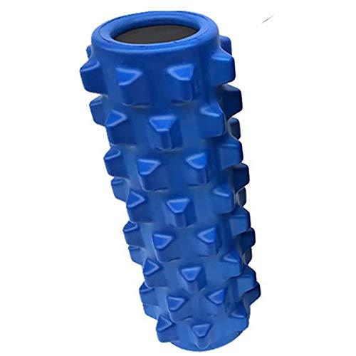 Rodillo de espuma de masaje para columnas de yoga, espuma EVA sólida, para yoga, fitness, equipo de yoga (color: azul, tamaño: 13 x 32 cm)