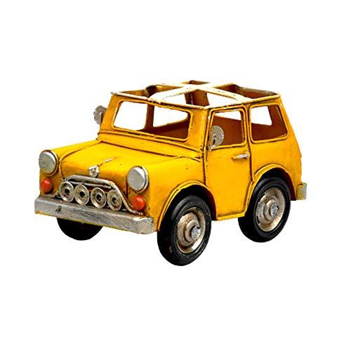 Xinyexinwang Altes Automodell Auto Model Metallautomodell Autoliebhaber Für Wird zur Dekoration des Babyzimmers verwendet,Gelb