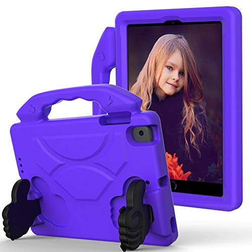 Case For ipad mini 5 2019 Case cute Kids cover for ipad mini 4 shock proof EVA Hand-held Stand Cover for ipad mini 2/3-Purple_iPad mini 12345