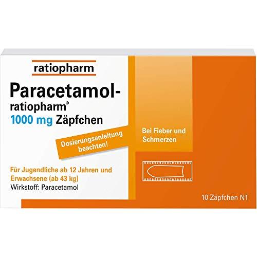 Paracetamol-ratiopharm 1000 mg Zäpfchen, 10 St