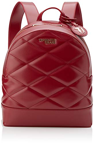 Trussardi Jeans T-Easy City Quilt Backpack MD, Zaino Donna, Rosso (Garnet), 30x11.5x26 cm (W x H x L)