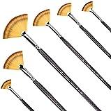 Set di pennelli a ventaglio da pittura, a manico lungo, per pittura con colori acrilici e ...