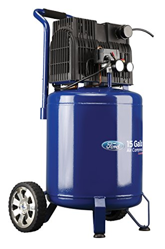 Ford Silent Series 15 Gallon Vertical Tank 2 HP, 125 Max PSI Oil-Free Air Compressor, FCE6150QV