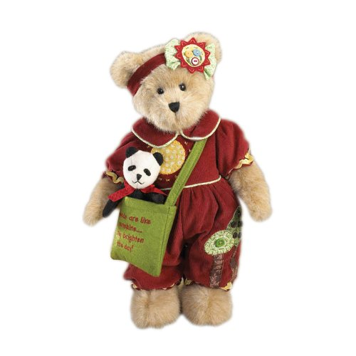 Enesco Boyd's Bears Collectible Meagan Goodfriend with Checkers Plush Bear with Friend