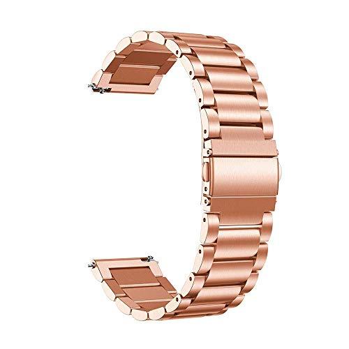 Correa, Accesorios de Reloj Pulsera de 20 mm para Reloj Correa de Reloj Activa para Pulsera Gear S2 (Color: Oro Rosa, tamaño: para Activa)