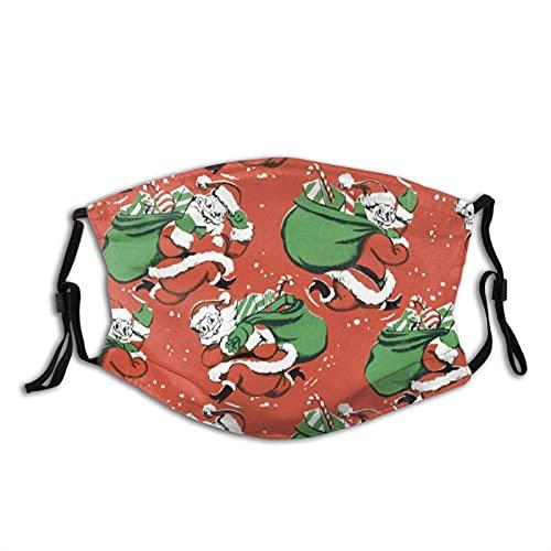 Regalo de Navidad Mascarilla de Santa Patrón Reutilizable Lavable Hombres Mujeres Paño Polvo Cara Cubierta Otoño Otoño Otoño Otoño Otoño Otoño