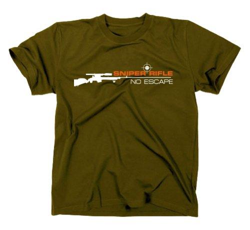 Sniper Rifle Counter Strike Scharfschütze T-Shirt, oliv, S