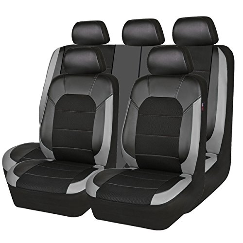 car seat cover leather grey - 2