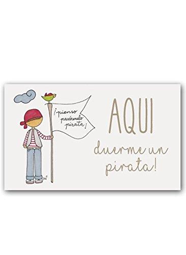 CUADRIMAN Placa Decorativa para Puertas o Paredes de Niño Pirata   Carteles Metálicos Juveniles para La Decoración de Tu Hogar
