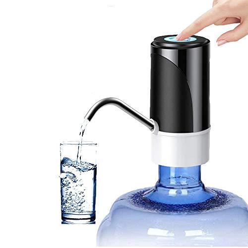CCHKFEI Elektrische Wasserflaschen pumpe, tragbarer Trinkwasserspender für Universal-Gallonenflaschen, USB-Lade-Trinkwasserpumpe für Home Kitchen Office Camping