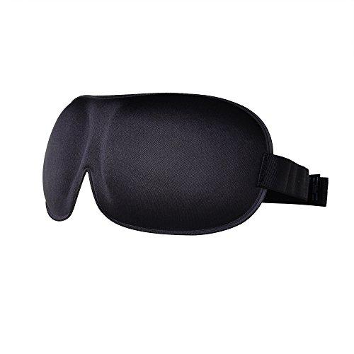 3D Schlafmaske, Schwarze Augenbinde Blickdicht, drückt nicht gegen die Augen, Umweltfreundlicher Memory-Schaumstoff, Verstellbares Band, Unisex für Damen, Herren und Kinder