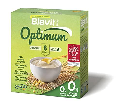 Blevit Plus Optimum 8 Cereales - Papilla de Cereales para Bebé con 50% de Cereales Integrales - Únicas Papillas para Bebé Sin Dextrinar - Desde los 6 meses - 400g