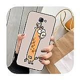 Double-sweet lindo animal de dibujos animados teléfono caso para Samsung Note 8 9 10 20 Lite pro ultra J 7 2 4 6 5 prime-a2-para Note20 ultra