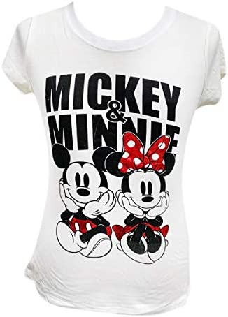 Disney Junior Mickey and Minnie Mouse White Fitted T Shirt X Large product image