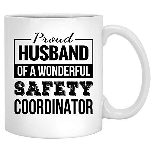 N\A Stolzer Ehemann des Sicherheitskoordinators Geschenke Lustige Kaffeetasse Jubiläum Keramik Teetasse Weiß 11OZ